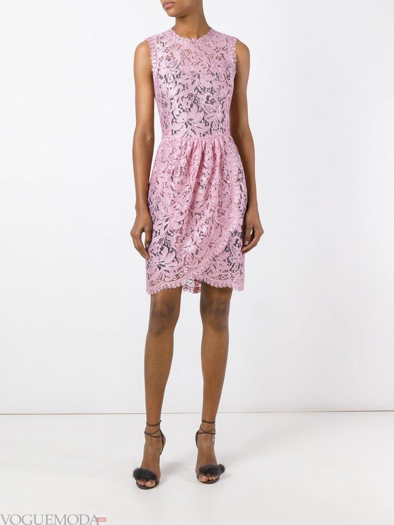 короткое выпускное платье тюльпан розовое