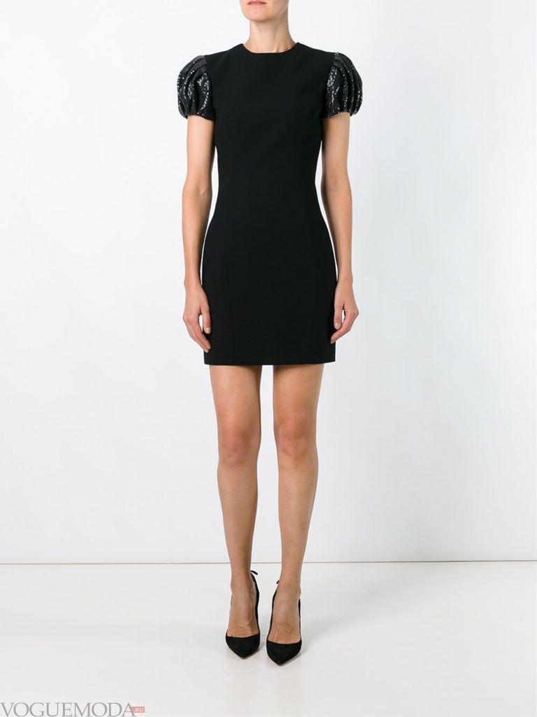 короткое выпускное платье тюльпан черное