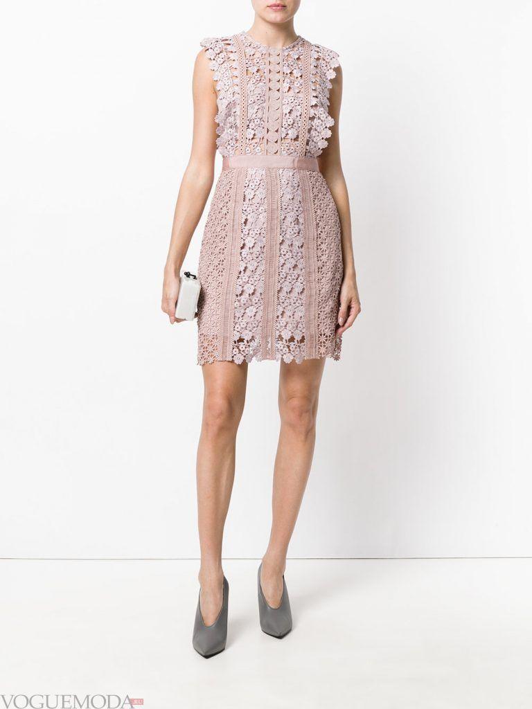 короткое выпускное платье тюльпан нюдовое