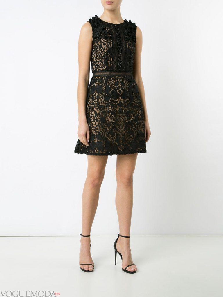 короткое выпускное платье с поясом темное