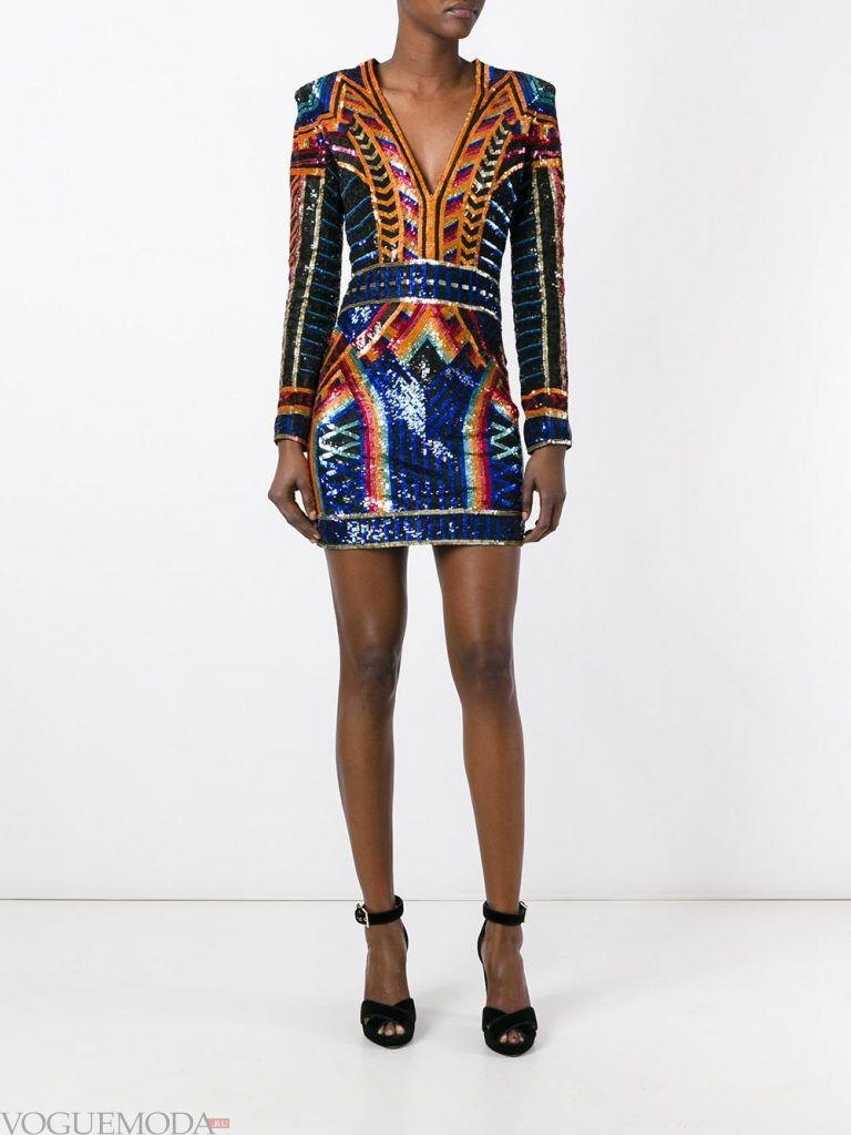 короткое выпускное платье с поясом цветное