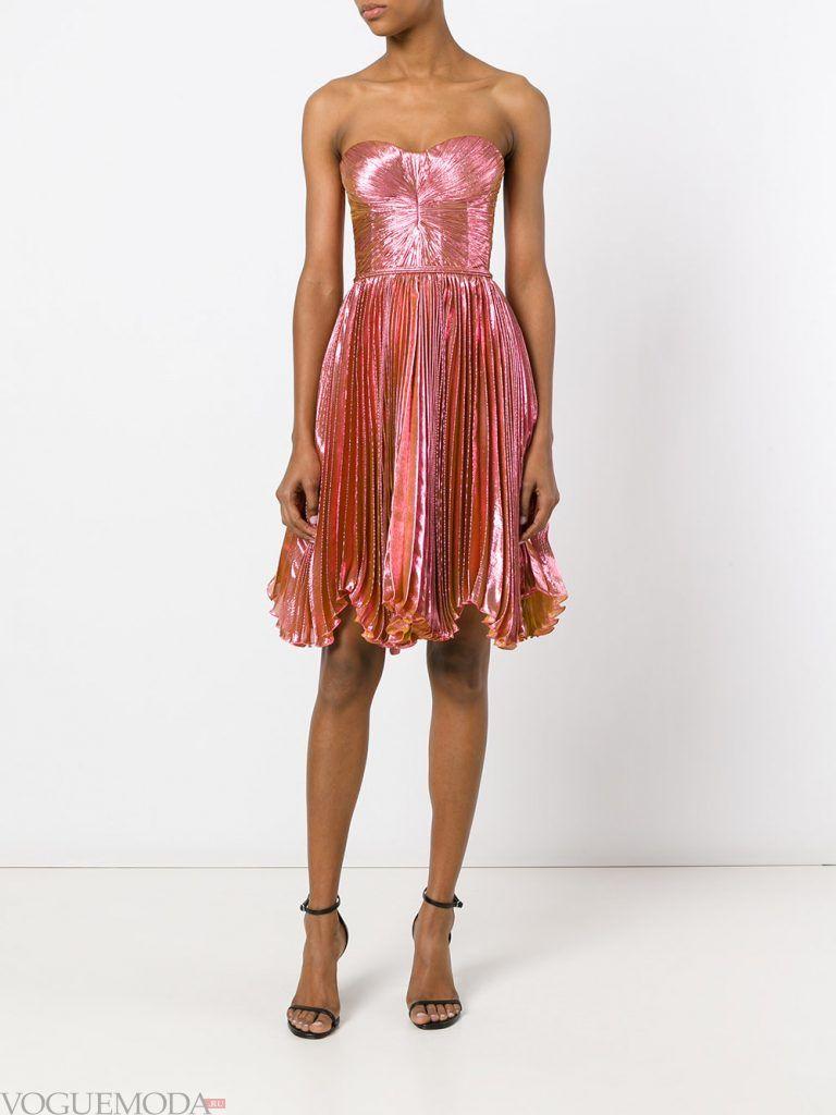короткое выпускное платье с корсетом розовое