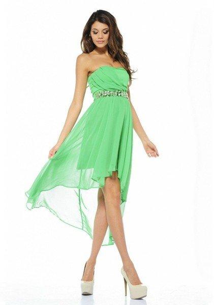 короткое выпускное платье шифоновое зеленое