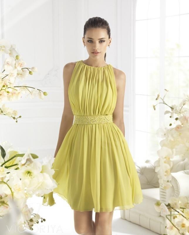 короткое выпускное платье шифоновое салатовое