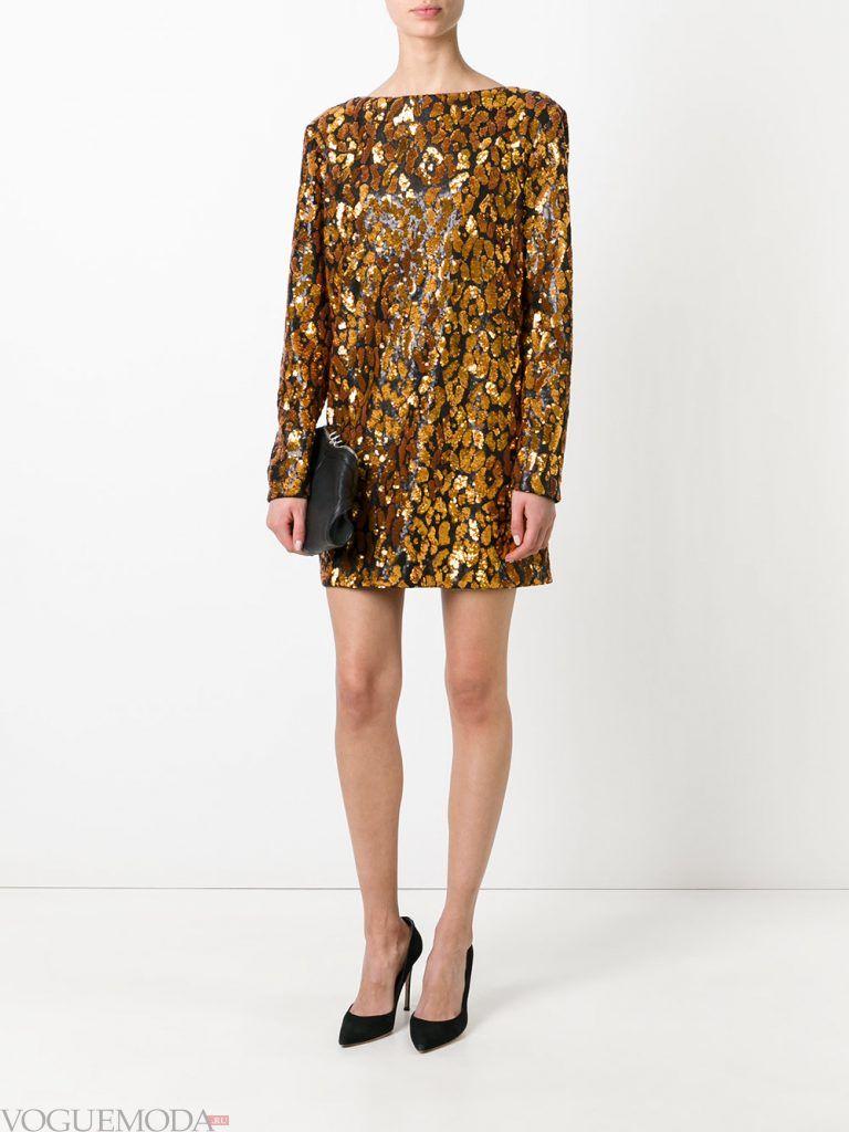 короткое выпускное платье золотое