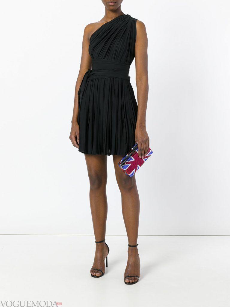 короткое выпускное платье черное