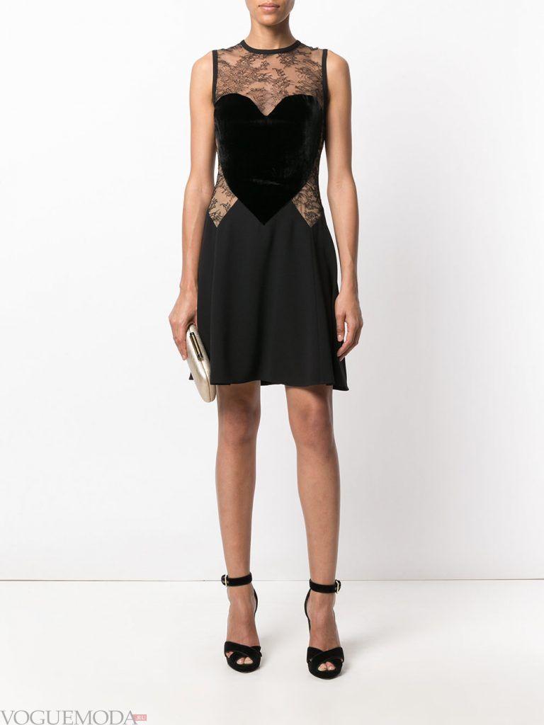 вечернее короткое выпускное платье черное