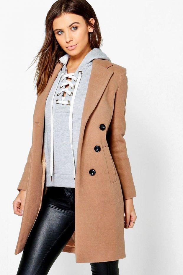 Верхняя одежда осень зима 2019 2020: пальто кофейный цвет
