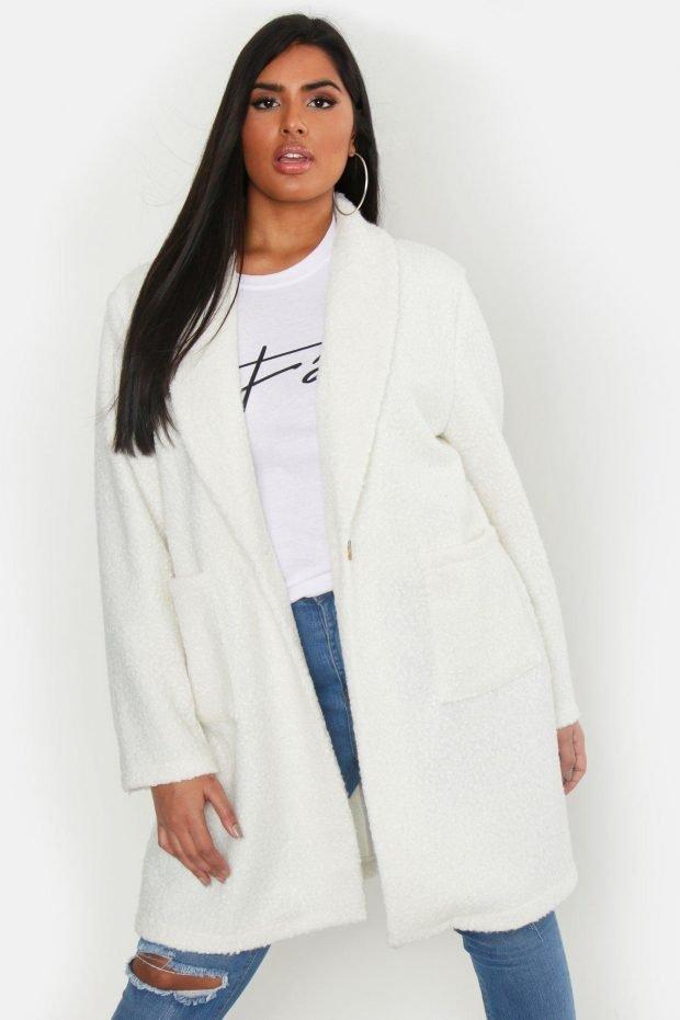 Верхняя одежда осень зима 2019 2020: белое пальто