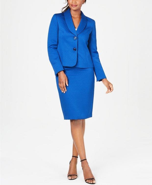 ярко-синий с юбкой