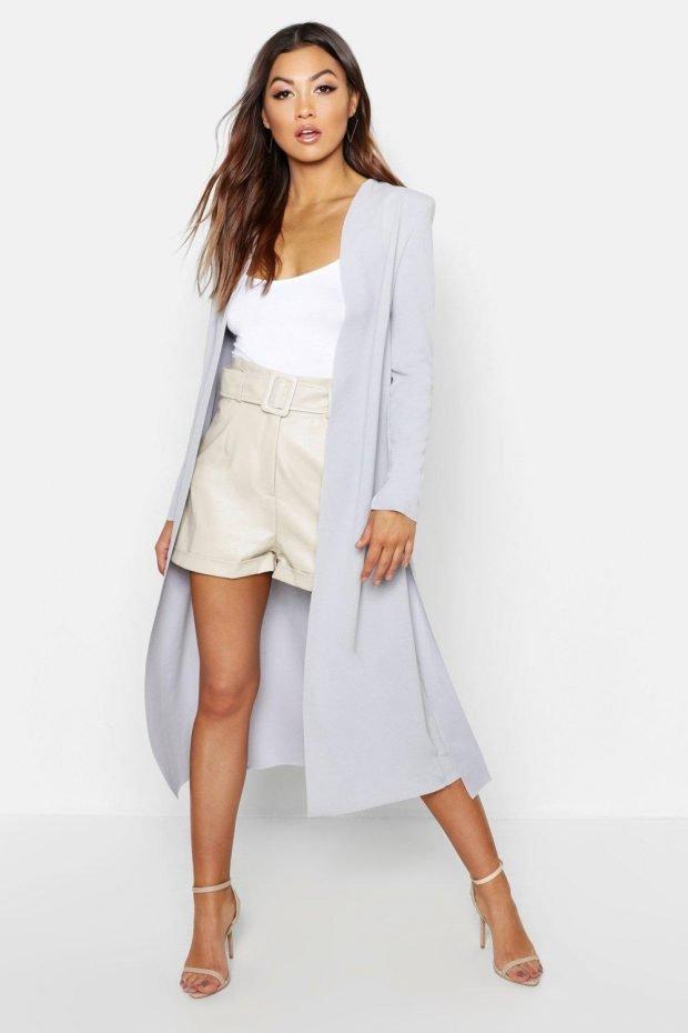 длинный пиджак под шорты