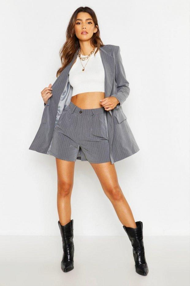 серый под шорты