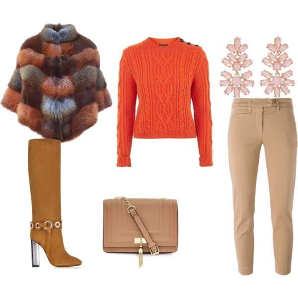 зимний лук модный
