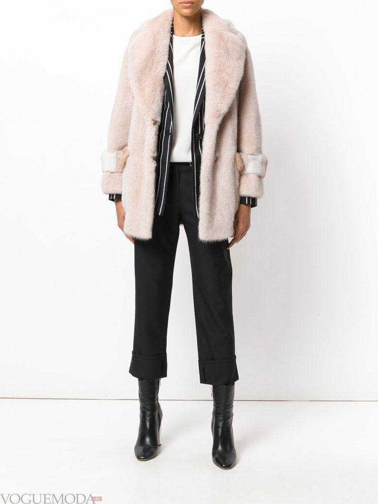 зимний лук классика с брюками кюлотами