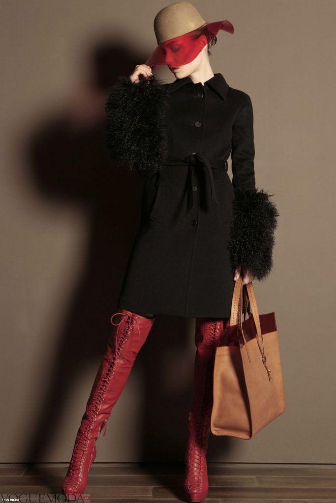зимний лук романтичный с ботфортами