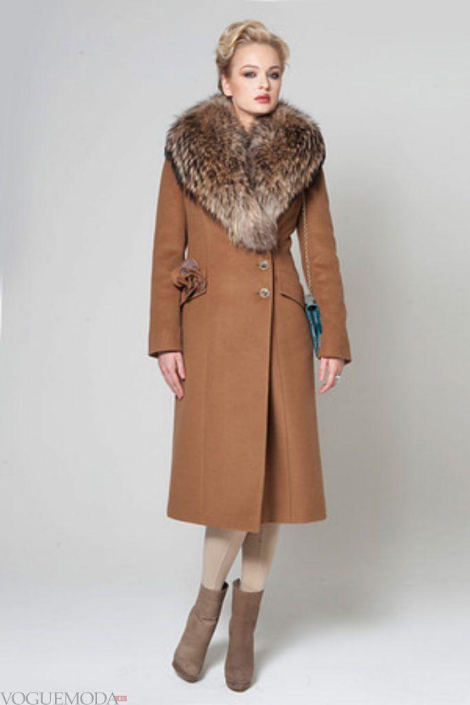 зимний лук романтичный коричневый