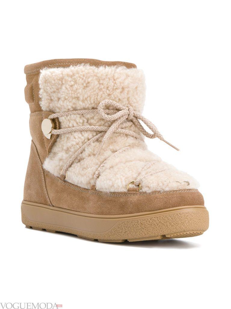 с чем носить бежевые замшевые ботинки с мехом