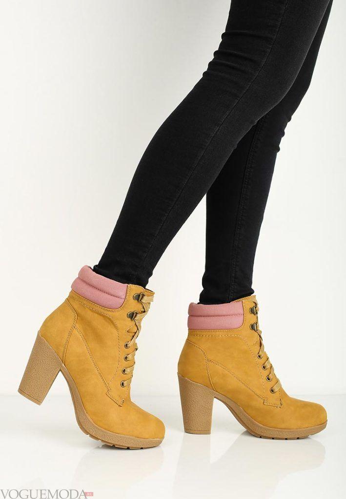 женские ботильоны ankle желтые