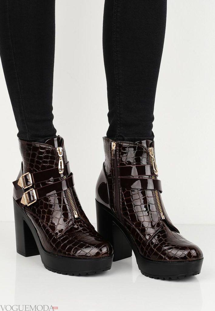 женские ботильоны ankle лаковые