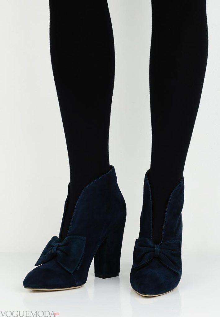 женские ботильоны ankle синие