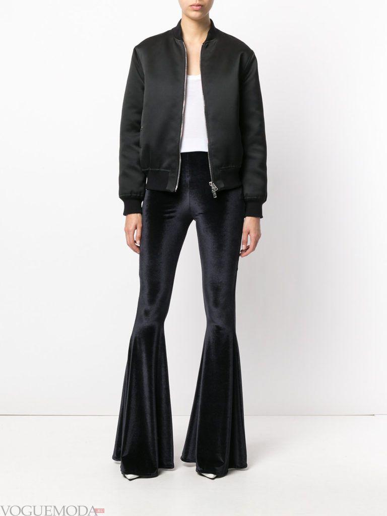 женские брюки клеш бархатные