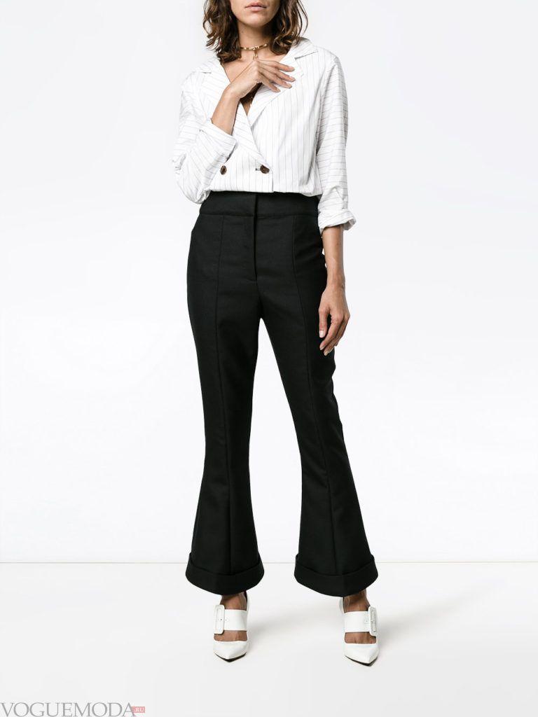 женские брюки со стрелками черные