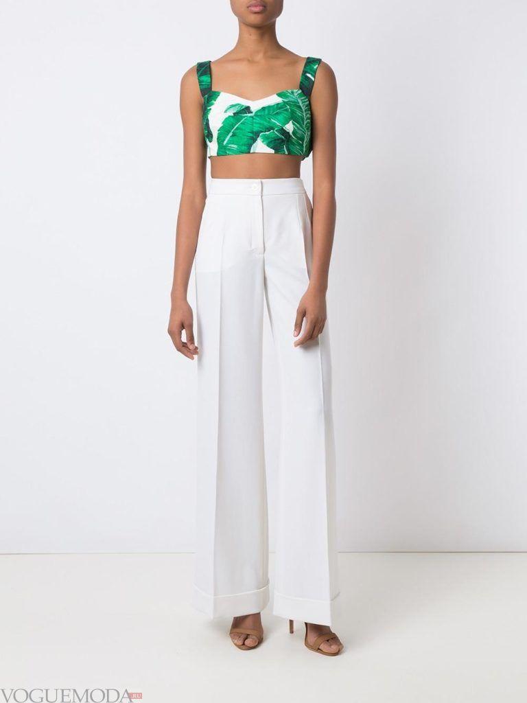 женские брюки со стрелками белые