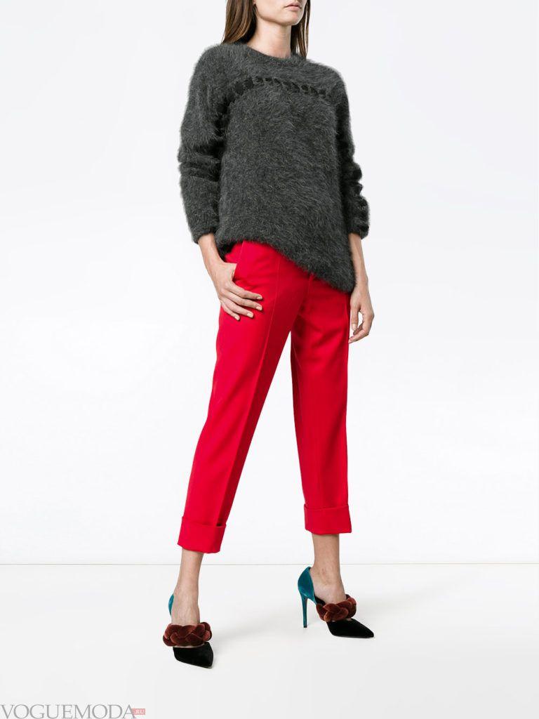 женские брюки со стрелками яркие