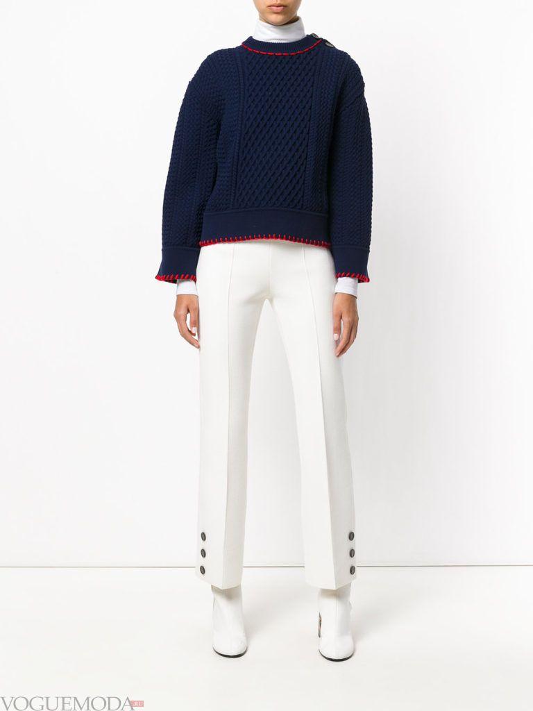 женские брюки со стрелками светлые