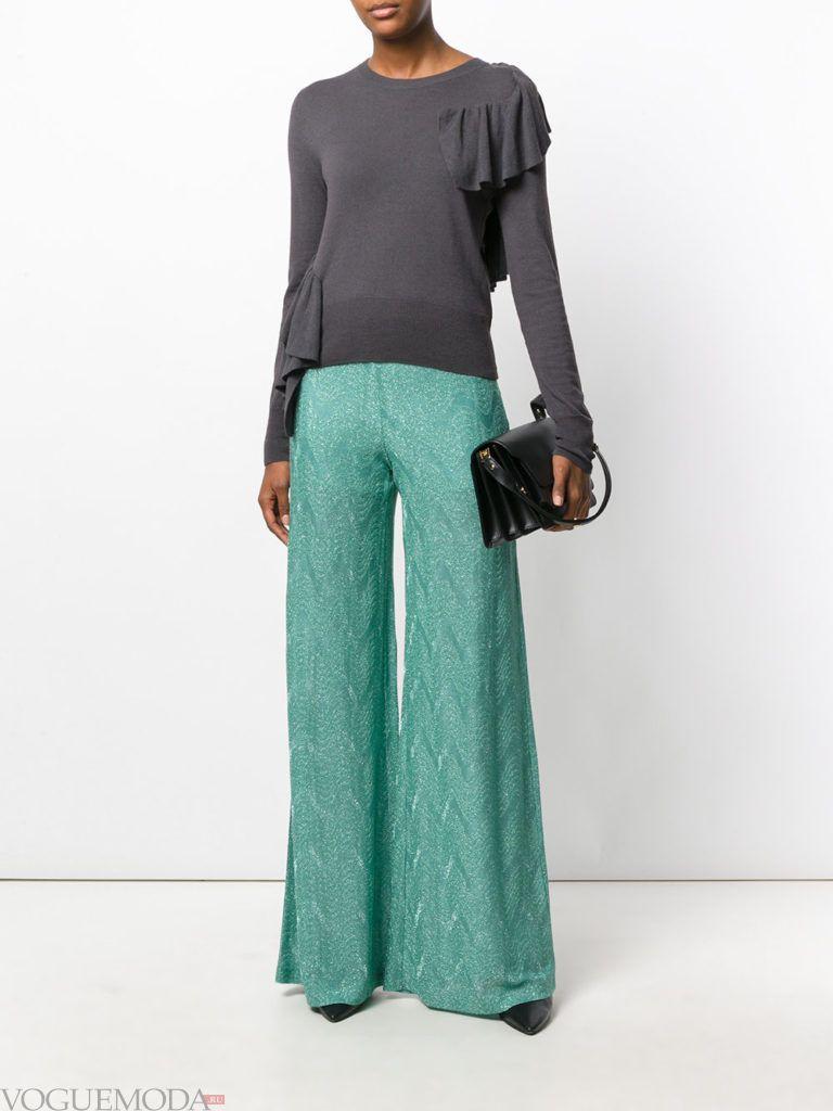 широкие женские брюки кружевные