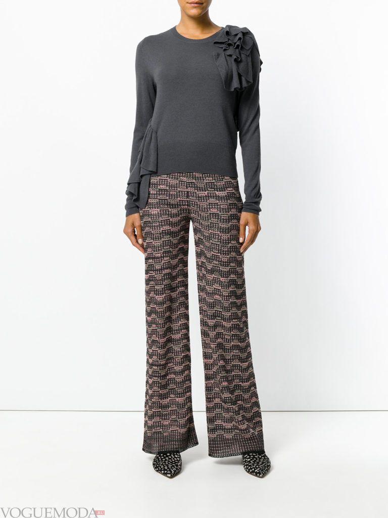широкие женские брюки с принтом