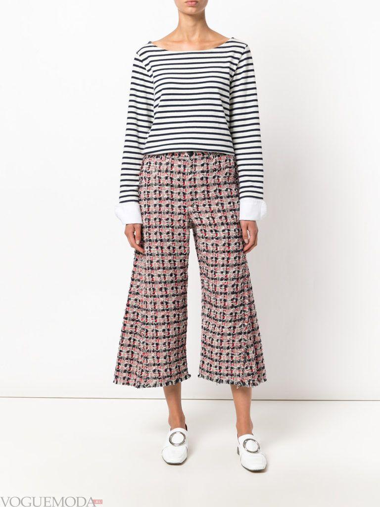 широкие женские брюки кюлоты
