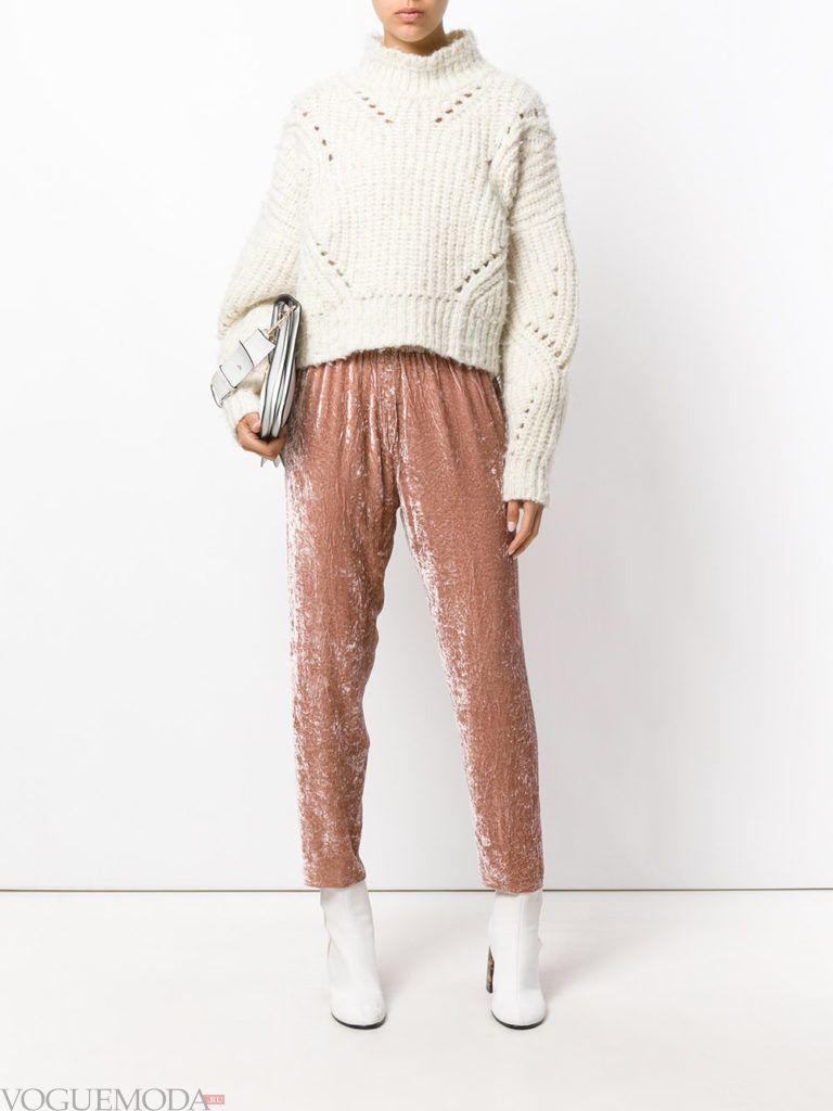 женские брюки дудочки бархатные