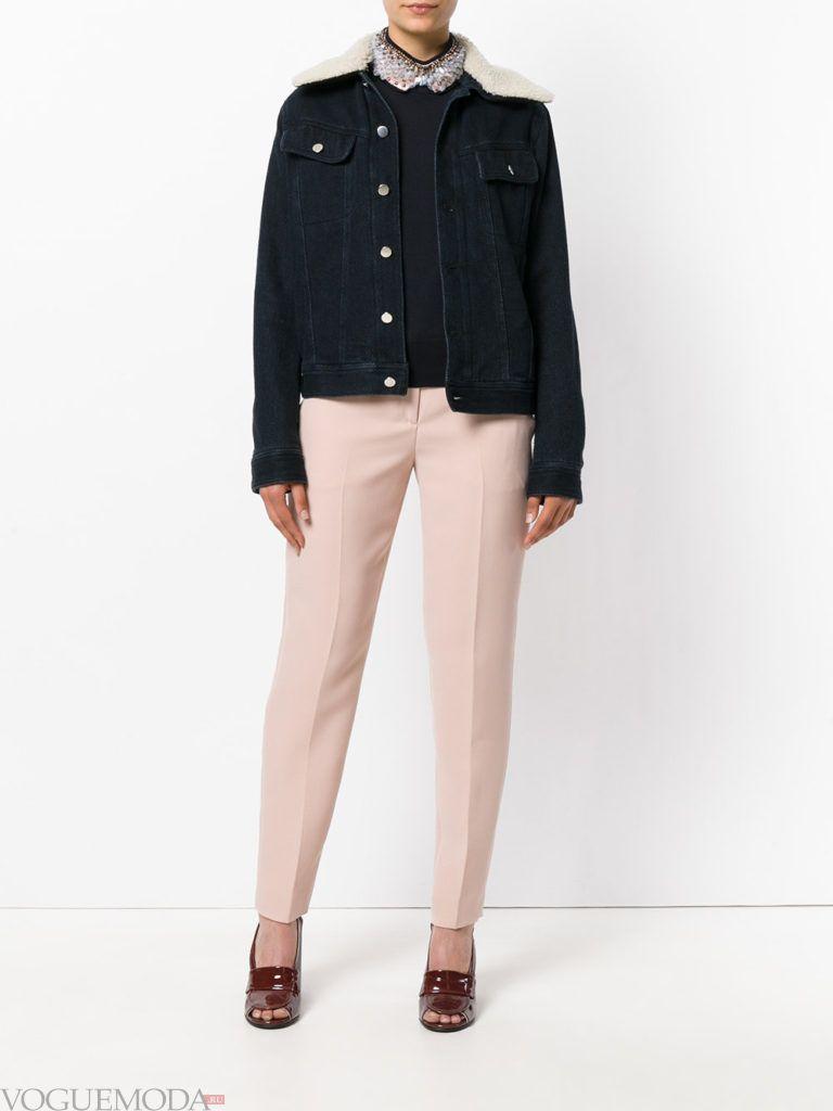 женские брюки дудочки розовые