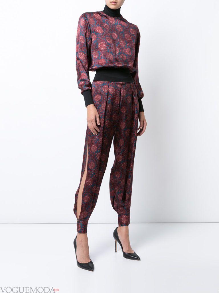 женские брюки дудочки с декором