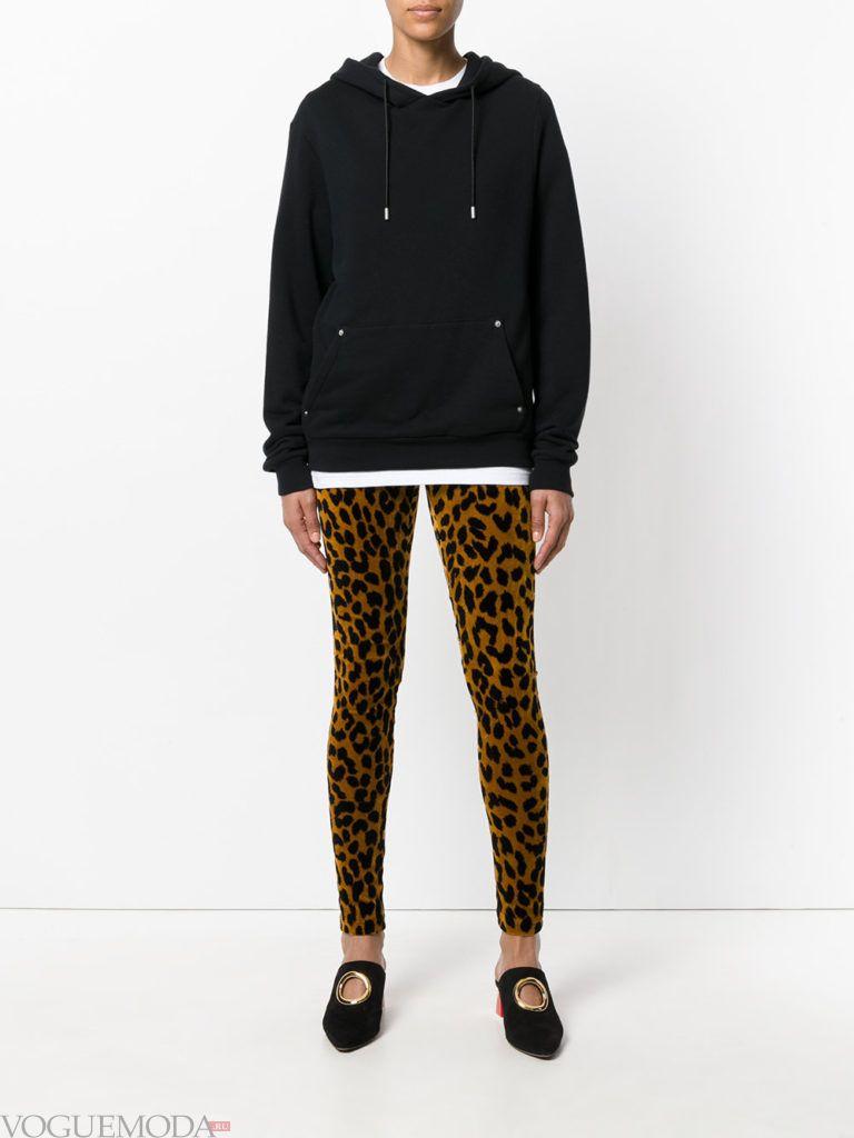 женские брюки скинни с принтом
