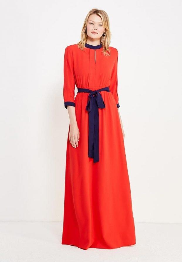 платье на день Святого Валентина длинное
