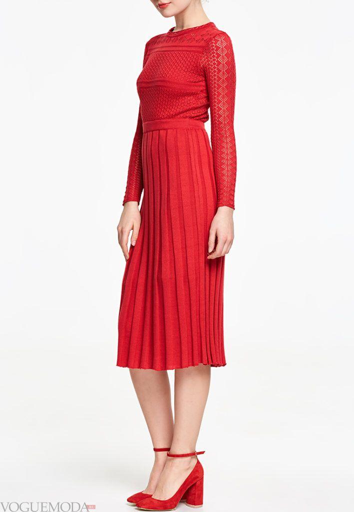 платье на день Святого Валентина трикотажное
