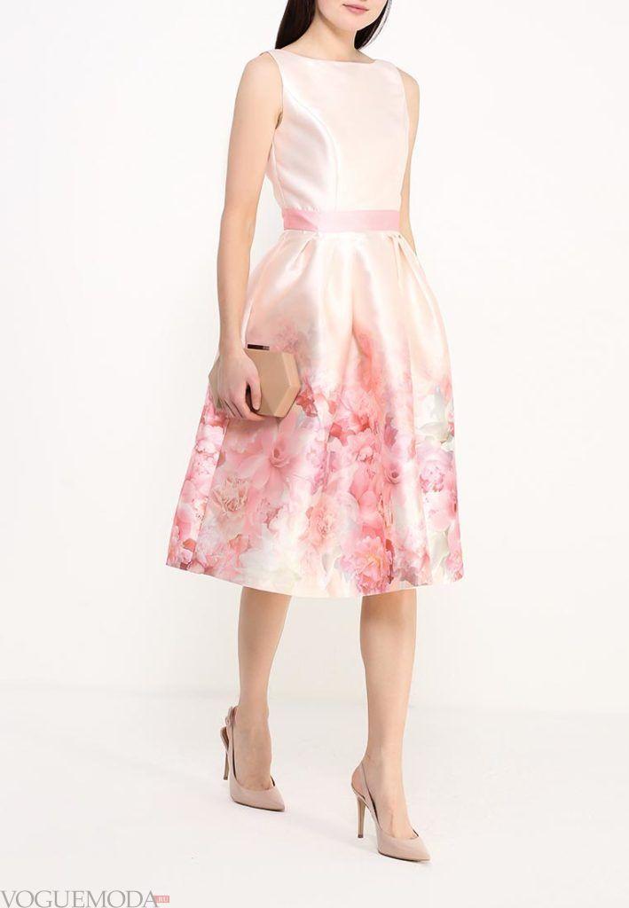 платье на день Святого Валентина с принтом