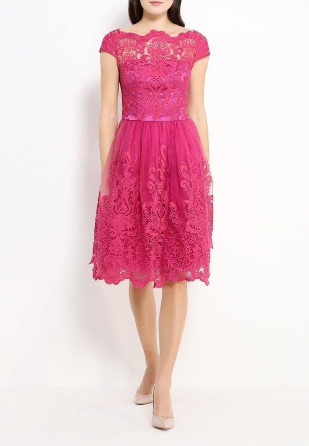 платье на день Святого Валентина яркое