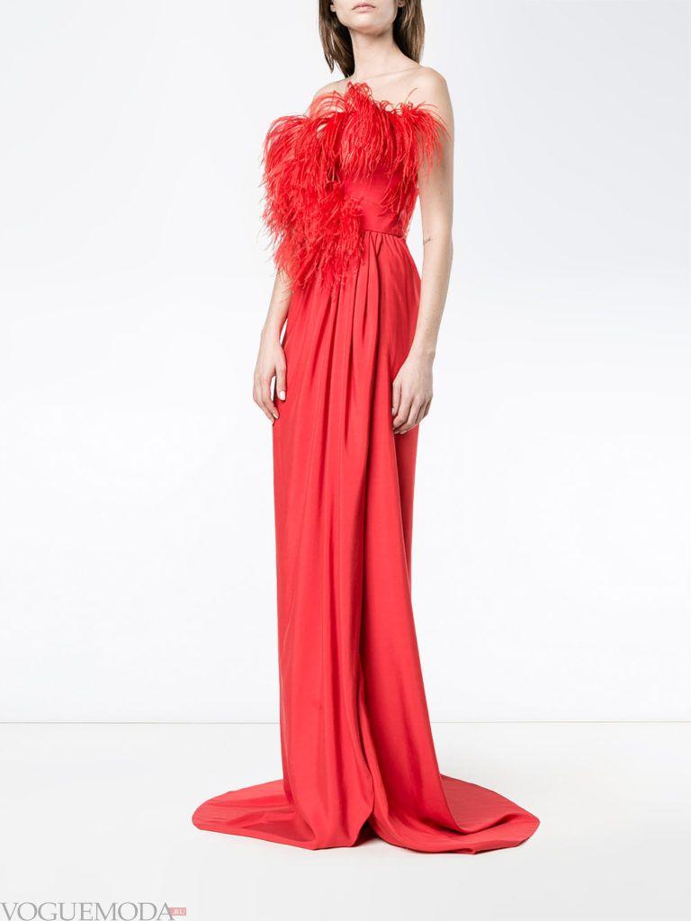 платье на день Святого Валентина с декором