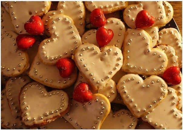 атрибут дня Святого Валентина выпечка