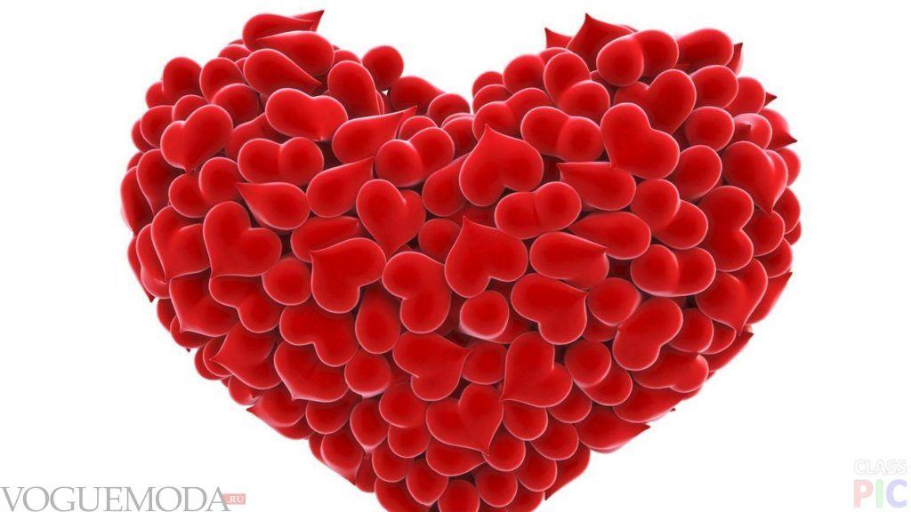 атрибут дня Святого Валентина большое сердце