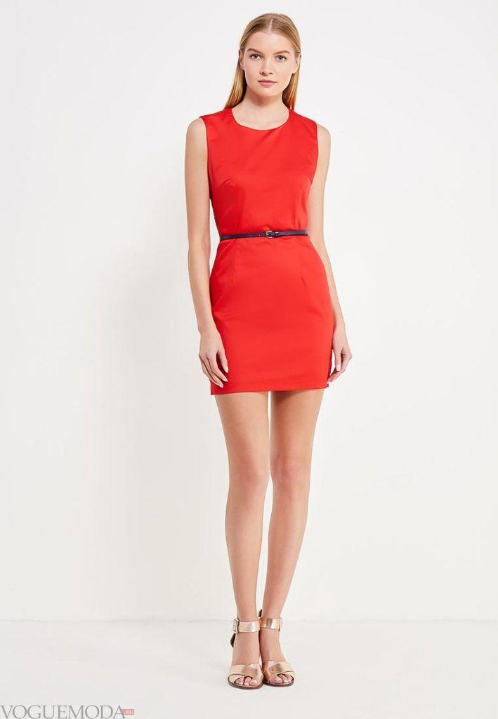 платье на день Святого Валентина с поясом