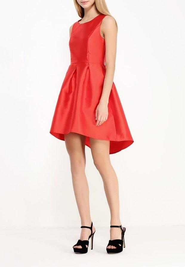 платье на день Святого Валентина асимметричное
