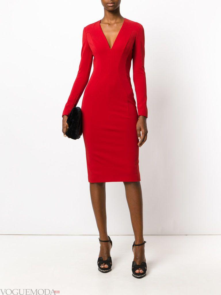 новогоднее платье для корпоратива в офисе красное