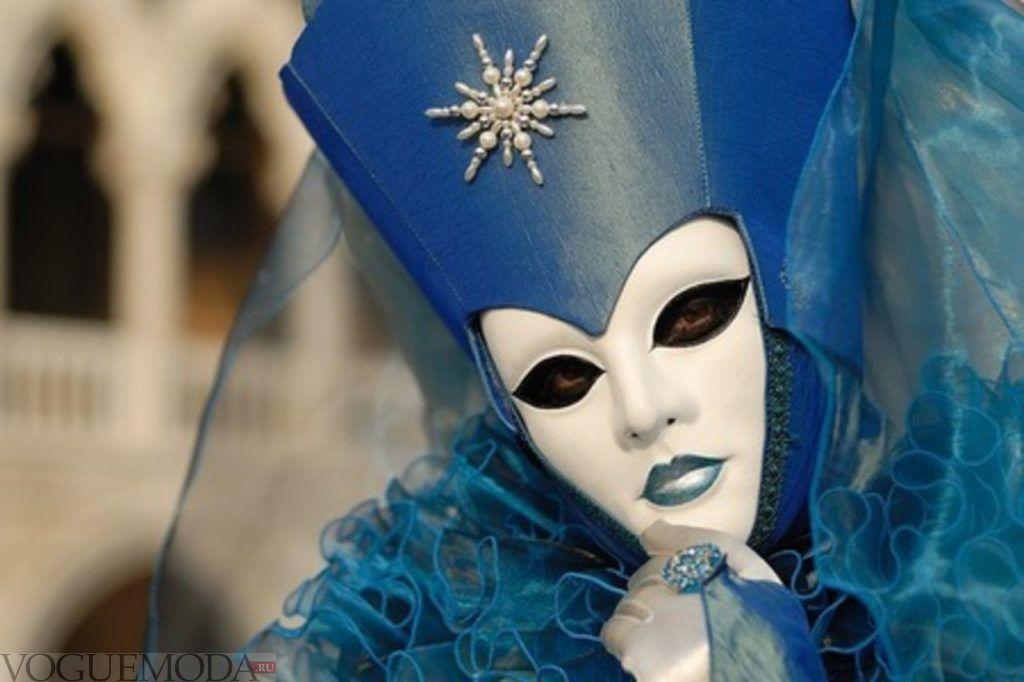 новогодний лук для тематического корпоратива синий