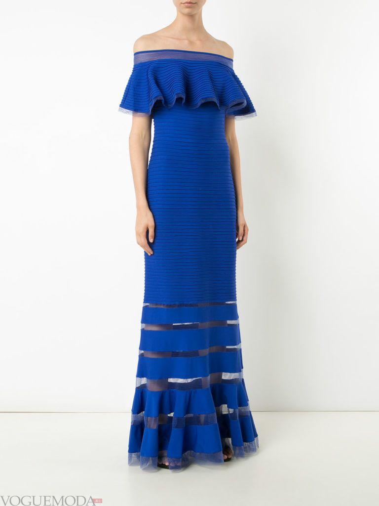 платье для новогоднего корпоратива синее