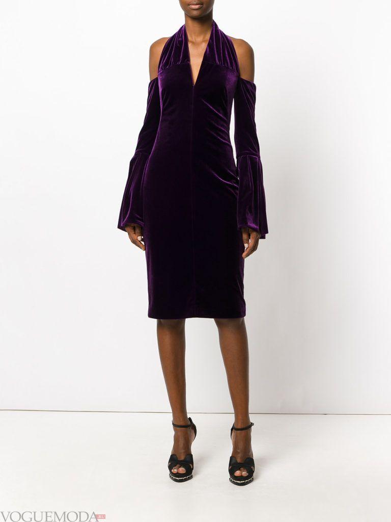 платье для новогоднего корпоратива бархатное