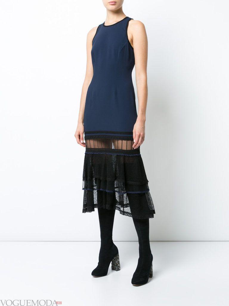 платье для новогоднего корпоратива с кружевом